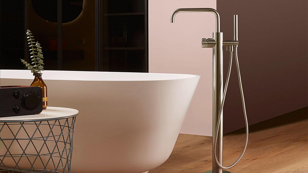 Dimensione mina rubinetti acciaio inox miscelatori bagno