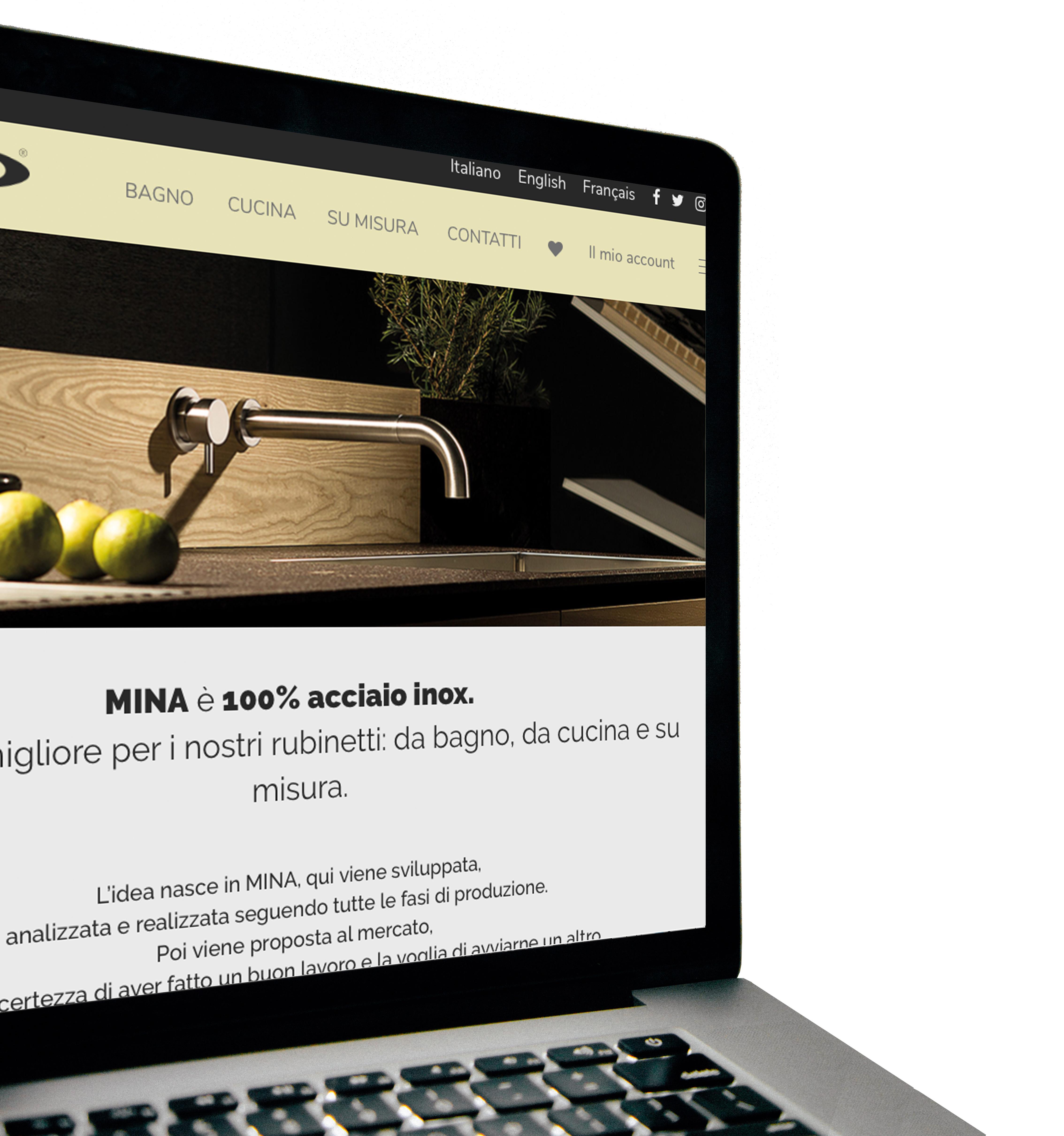 Sito web Mina Inox produttore rubinetteria acciaio inossidabile